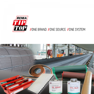 REMA TIP TOP - Vulcanizing systems for endless conveyor belt splicing and repairs, pulley lagging, skirting rubber, and conveyor belt cleaning systems